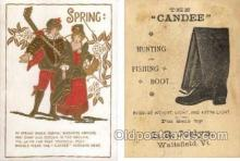 tc000427 - Candee, Hunting & Fishing Boot, L.R. Joslyn, Waitsfield, Vt. - Approx Size Inches = 3 x 4.25