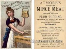 tc000484 - Atmore's Mince Meat and Genuine English Plum Pudding - Approx Size Inches = 2.75 x 4