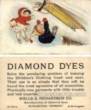 tc000506 - Diamond Dyes, Wells & Richardson Co. Burlington, Vermont - Approx Size Inches = 3 x 5