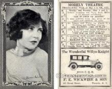 tc000548 - Renee Adoree, Morely Theater - Approx Size Inches = 3.25 x 5.25