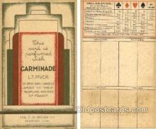tc000553 - Carminade Purfume,  C.O. Miller Co. Stamford, Conn. USA - Approx Size Inches = 3.25 x 5.25