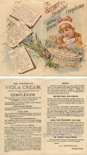 tc000563 - Dr. Viola Cream, The secret of a beautiful complexion - Approx Size Inches total size opened up = 5.75 x 6.5