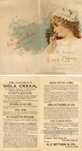 tc000564 - Dr. Hebra's Viola Cream Beautifies the complexion - Approx Size Inches total size opened up = 6 x 6.5