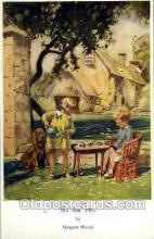 tea001001 - Tea for Two, margaret Horder Tea Party Postcard Post Cards Old Vintage Antique