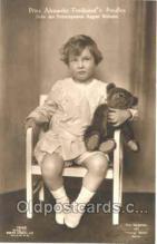 ted002353 - Prinz Alexander Ferdinand V. Preuben, Teddy Bear Bears Postcard Postcards