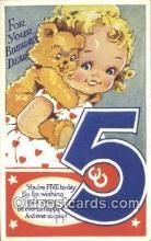 ted004015 - 5 th Birthday, Bear Postcard Bears, tragen postkarten, sopportare cartoline, soportar tarjetas postales, suportar cartões postais