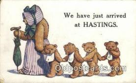 ted004042 - Bear Postcard Bears, tragen postkarten, sopportare cartoline, soportar tarjetas postales, suportar cartões postais