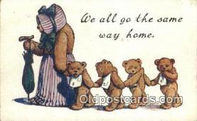 ted004043 - Bear Postcard Bears, tragen postkarten, sopportare cartoline, soportar tarjetas postales, suportar cartões postais