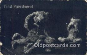 ted004059 - First Punishment, Bear Postcard Bears, tragen postkarten, sopportare cartoline, soportar tarjetas postales, suportar cartões postais