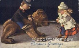 ted004065 - Artist Fritz Hildebrandt, Bear Postcard Bears, tragen postkarten, sopportare cartoline, soportar tarjetas postales, suportar cartões postais