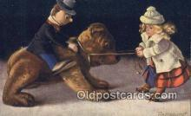 ted004066 - Artist Fritz Hildebrandt, Bear Postcard Bears, tragen postkarten, sopportare cartoline, soportar tarjetas postales, suportar cartões postais