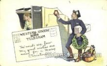 tep001009 - Western Union Telegram Telephone, Phone Postcard Postcards