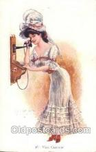 tep001021 - Miss Chicago, Artist Archie Gunn, Telephone, Phone Postcard Postcards