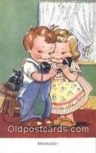 tep001061 - Engaged Telephone Postcard Post Card Old Vintage Antique