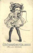 tep001068 - Telephone Postcard Post Card Old Vintage Antique