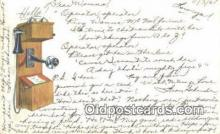 tep001076 - Telephone Postcard Post Card Old Vintage Antique