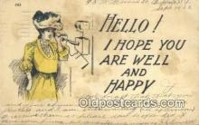 tep001094 - Telephone Postcard Post Card Old Vintage Antique