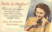 tep001097 - Telephone Postcard Post Card Old Vintage Antique
