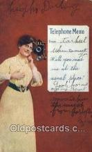 tep001119 - Telephone Postcard Post Card Old Vintage Antique