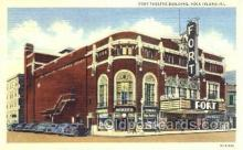 the001014 - Fort Theatre Building,  Rock Island, Illinois, IL, USA,  Postcard Postcards