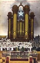 the001025 - Organ and Choir, Mormon Tabernacle, Salt Lake City, Utah, UT, USA, Theatre Postcard Postcards