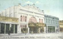 the100126 - T & D Theatre & Elk Building Salinas, CA, USA Postcard Post Cards Old Vintage Antique