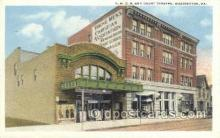 the100130 - YMCA & Court Theatre Washington, PA, USA Postcard Post Cards Old Vintage Antique