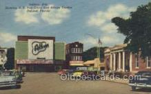 the100131 - Indiana Ave, US Post Office & Athens Theatre Deland, FL, USA Postcard Post Cards Old Vintage Antique
