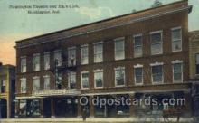 the100154 - Huntington Theatre & Elk's Club Huntington, IN, USA Postcard Post Cards Old Vintage Antique