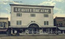 the100179 - Leavitt Theatre Sanford, ME, USA Postcard Post Cards Old Vintage Antique