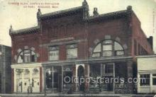 the100202 - Sunberg Block Containing Post Office Negaunee, MI, USA Postcard Post Cards Old Vintage Antique