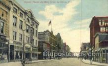 the100210 - Majestic Theatre & Main Street La Crosse, WI, USA Postcard Post Cards Old Vintage Antique