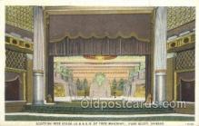 the100214 - Scottish Rite Stage Fort Scott, KS, USA Postcard Post Cards Old Vintage Antique