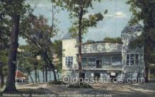 the100215 - Oakwood Park, Main entrance, Theatre & Lake Kalamazoo, MI, USA Postcard Post Cards Old Vintage Antique