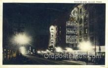 the100216 - Theater Row Dallas, TX, USA Postcard Post Cards Old Vintage Antique