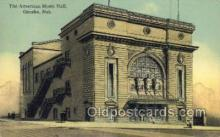 the100220 - American Music Hall Omaha, NE, USA Postcard Post Cards Old Vintage Antique