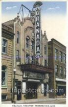 the100235 - Granada Theatre Sherbrooke, Que Postcard Post Cards Old Vintage Antique