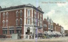 the100240 - Davidson Theatre Fort Scott, KS, USA Postcard Post Cards Old Vintage Antique