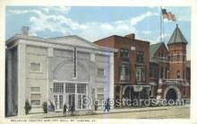 the100246 - Bellevue Theatre & City Hall St Albans, VT, USA Postcard Post Cards Old Vintage Antique