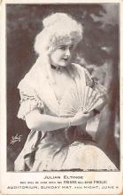 the205030 - Theater Actor / Actress Old Vintage Antique Postcard Post Card, Postales, Postkaarten, Kartpostal, Cartes, Postkarte, Ansichtskarte
