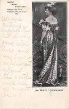 the212109 - Theater Actor / Actress Old Vintage Antique Postcard Post Card, Postales, Postkaarten, Kartpostal, Cartes, Postkarte, Ansichtskarte