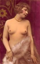 tin000003 - French Tinted Nude Old Vintage Antique Post Card