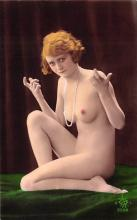 tin000007 - French Tinted Nude Old Vintage Antique Post Card