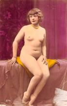 tin000009 - French Tinted Nude Old Vintage Antique Post Card