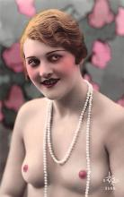 tin000015 - French Tinted Nude Old Vintage Antique Post Card