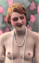 tin000019 - French Tinted Nude Old Vintage Antique Post Card