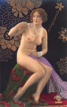 tin000025 - French Tinted Nude Old Vintage Antique Post Card