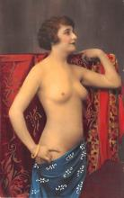 tin000035 - French Tinted Nude Old Vintage Antique Post Card