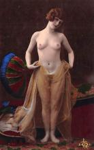 tin000037 - French Tinted Nude Old Vintage Antique Post Card