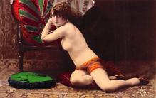 tin000039 - French Tinted Nude Old Vintage Antique Post Card